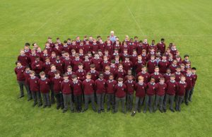 2nd years with their Year Head Mr Dundon