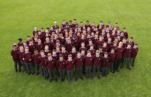 1st years with their Year Head, Ms Cullen