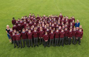 3rd years with their Year Heads Ms Felton and Ms Healy