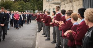 entrance procession from the school gate